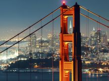 Golden Gate Bridge with San Francisco skyline