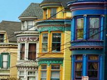 Colorful buildings of Haight-Ashbury