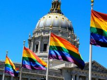 LGBT flags in San Francisco