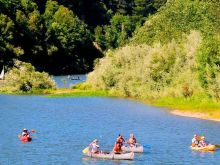 Floating on the Russian River