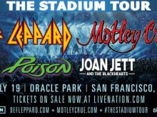 Def Leppard and Mötley Crüe will headline The Stadium Tour with Poison and Joan Jett & the Blackhearts at Oracle Park
