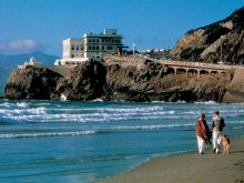 View of the Cliff House from Ocean Beach