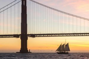 Freda B Golden Gate Bridge Sunset Sail on San Francisco Bay.jpg