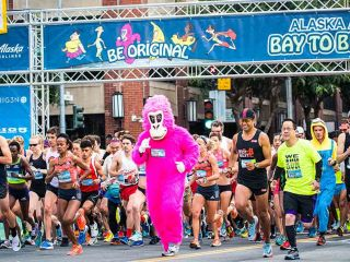 You never know what you'll see in the annual running of the Bay to Breakers race.  Participants show their creativity each year with outrageous costumes.  Here are a few of our favorites.