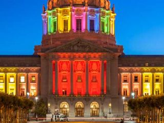 San Francisco City Hall During Pride