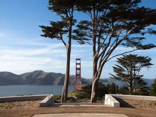 The Presidio of San Francisco, a national park site at the entrance to the Golden Gate Bridge, offers ideal locations to get an iconic San Francisco shot for your feed.
