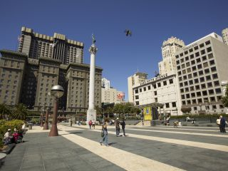 Union Square is San Francisco's central shopping neighborhood.