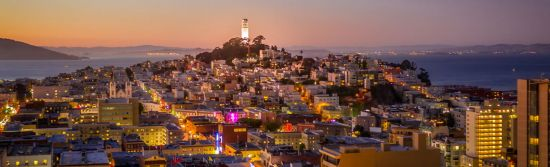 Coit Tower at Night