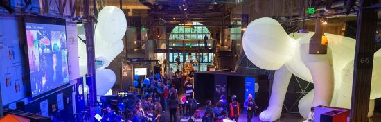 Gigantic, expandable works of art takeover the Exploratorium this summer.
