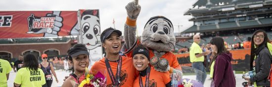 The Giant Race Series provides runners and walkers the opportunity to finish distances from a 5K to Half Marathon on the same home field as their favorite players.