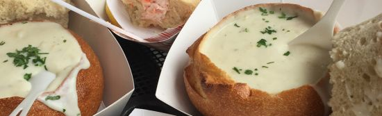 Whether you need something to warm you up as the fog rolls in or you want a hearty meal before exploring San Francisco, you can't go wrong with clam chowder.