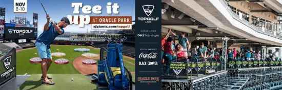 Oracle Park will host Topgolf Live's interactive golf experience in November 2019