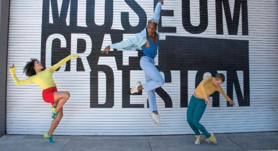 From left, Post Ballet's Jenna Marie, Landes Dixon and Emily Hansel for SF Trolley Dances. Photo by Andy Mogg (1).jpg